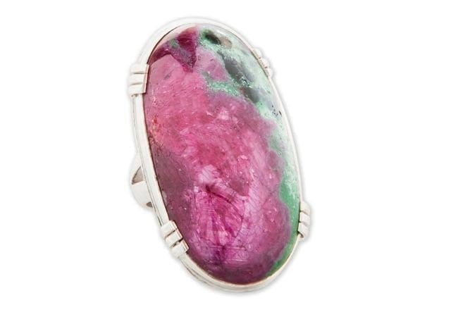 Giant Ruby Zoisite Ring