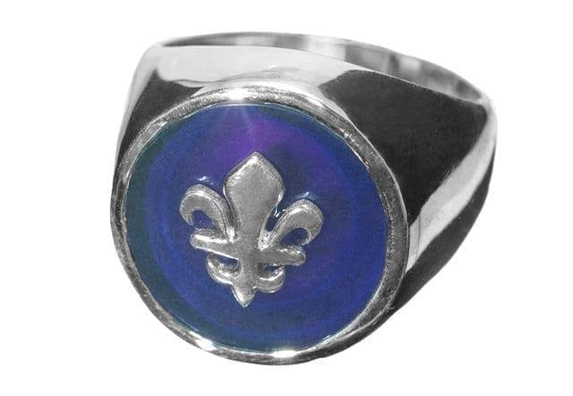 Amethyst Ring Fleur-de-Lys - 951