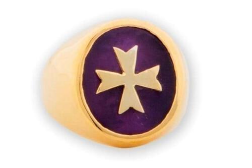 Amethyst Maltese Cross ring