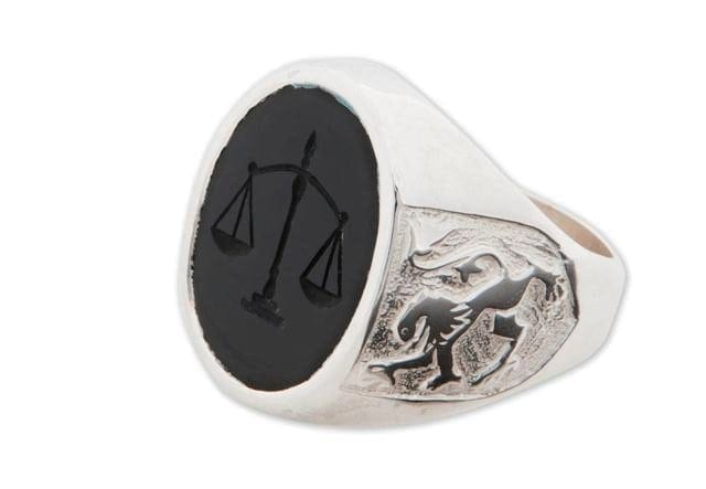 Scales of Justice ring