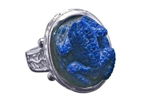 Lapis Frog Ring