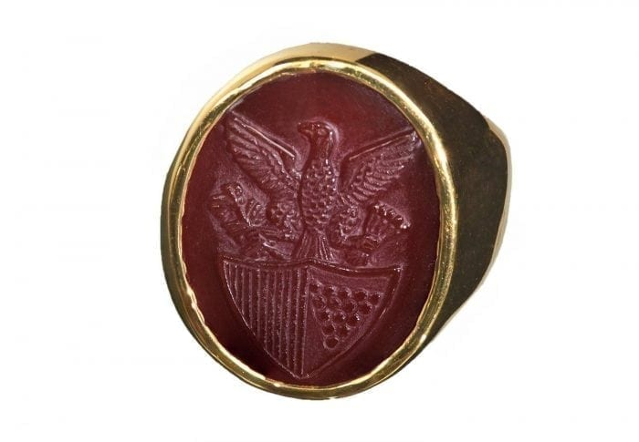 US Eagle Shield Ring
