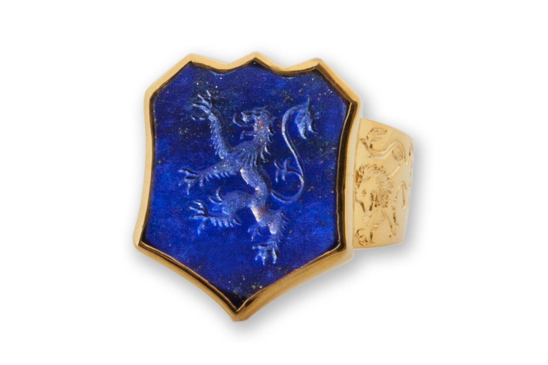 Lapis Lion Ring
