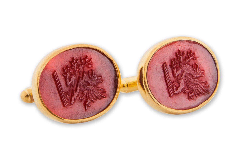Red Agate Griffin cufflinks