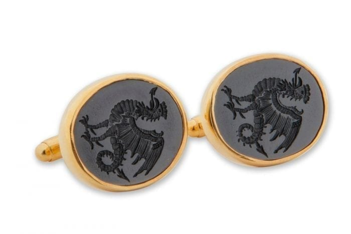 Black Onyx Cockatrice Cufflinks