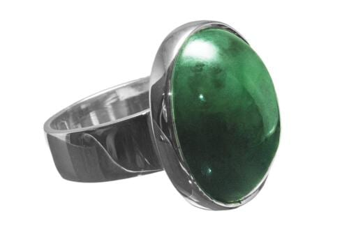 Big Ring with Oval Jade Cabochon - RCCJSS30X57