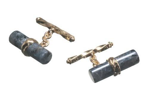 Labradorite Cufflinks Medium Cylinder Chain And Bar