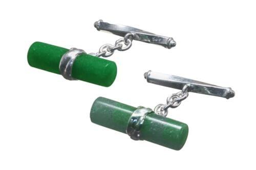 Aventurine Cufflinks Medium Cylinder - CLGAVSS5