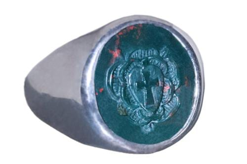 Bloodstone Rosicrucian Ring