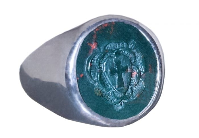Bloodstone Rosicrucian Ring
