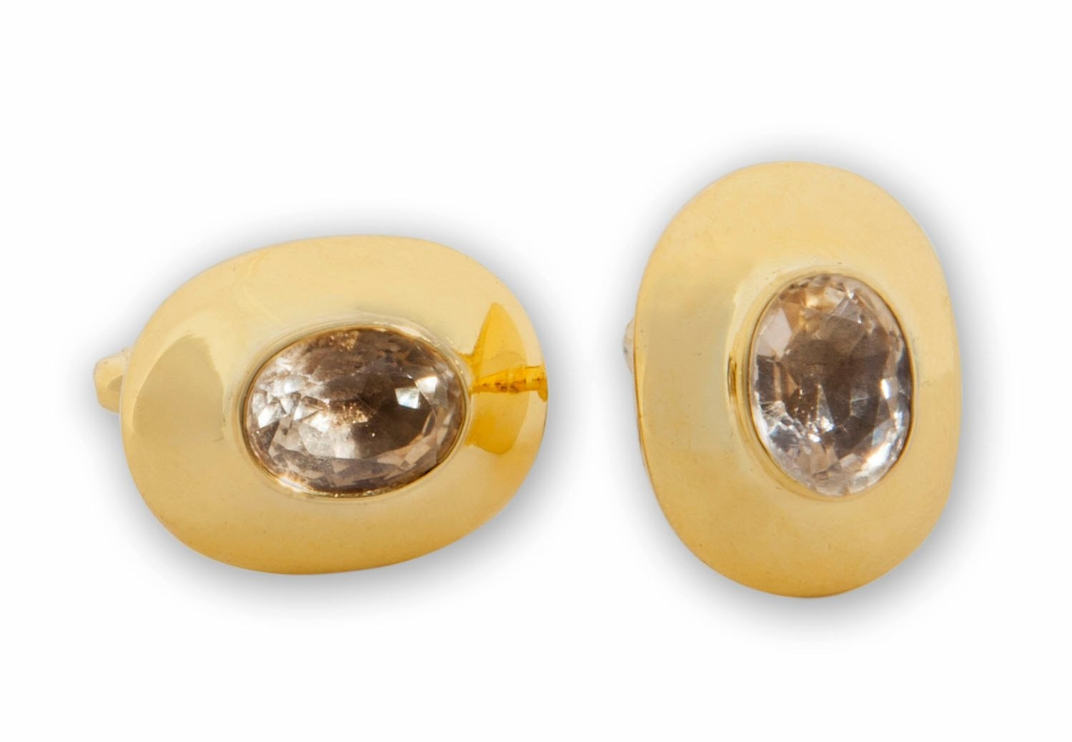 gold plated sterling silver Citrine Cufflinks
