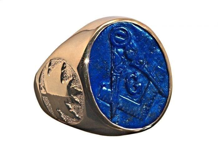 Lapis masonic ring - Regnas Jewelry