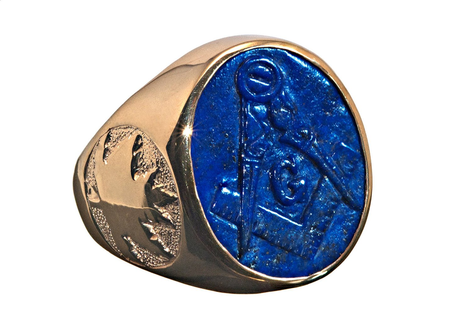 Lapis masonic ring - Regnas Jewelry