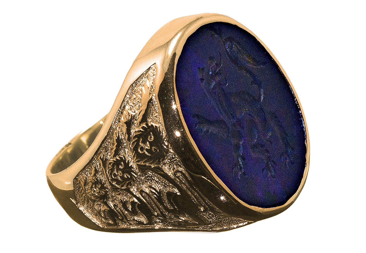 Amethyst lion ring - Regnas Jewelry