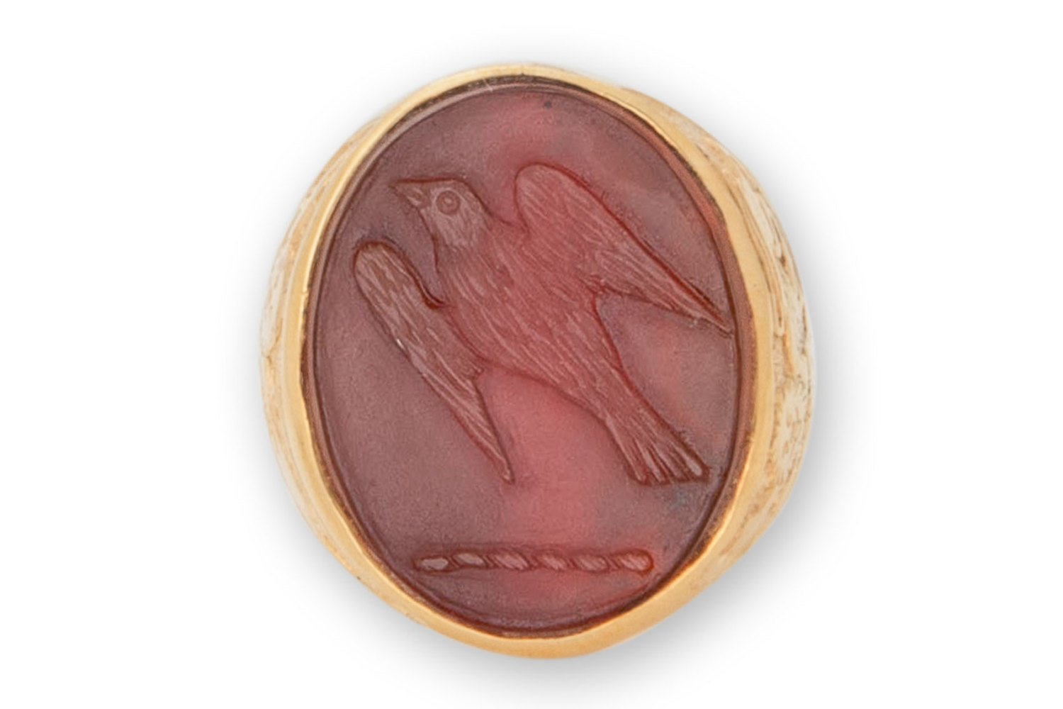 family crest ring - sparrow hawk - Regnas