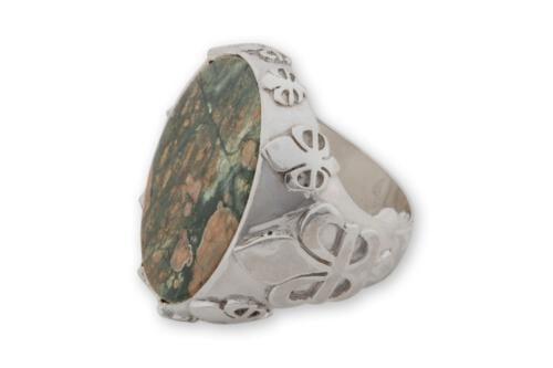 Spherolite Spherulite Rhyolite Ring- Regnas Jewelry