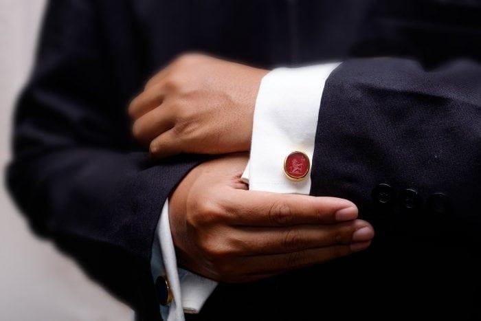Lion cufflinks - heraldic jewelry