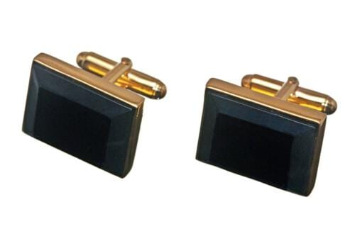 Black Jade Square Cufflinks