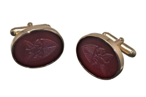 Red Agate American Seal Of Office Cufflinks