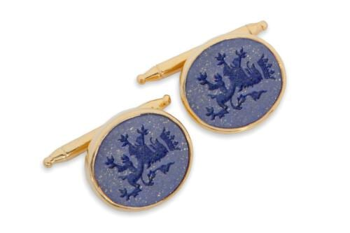 Lapis Lion Cufflinks