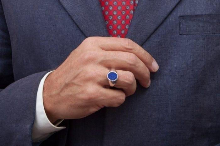 Masonic Lapis Ring Engraved