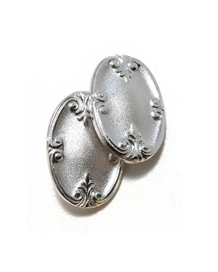 Vintage cufflinks Edwardian style - silver