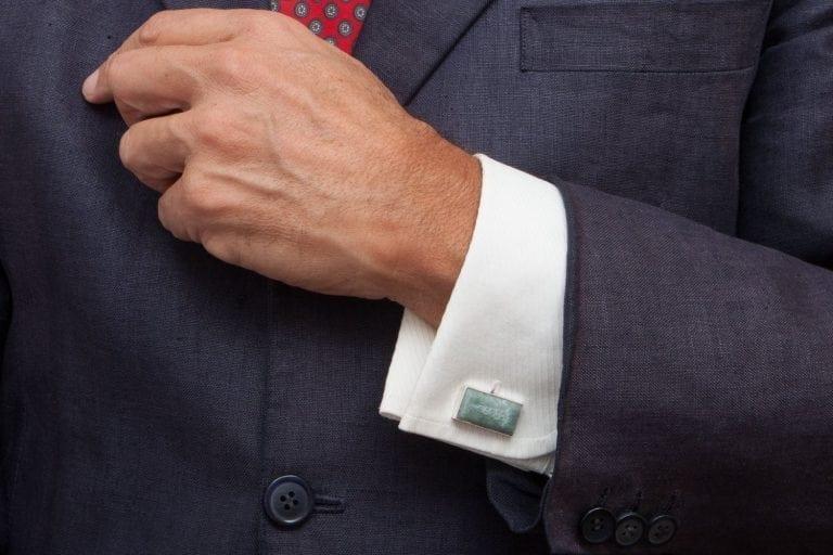Jade Doctor Cufflinks Caduceus Doctor Rectangular Swivel Sterling Silver 925