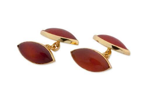 Red agate cuff links