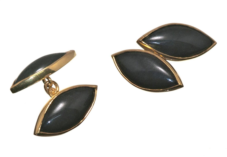 Black Onyx lozenge Cufflinks
