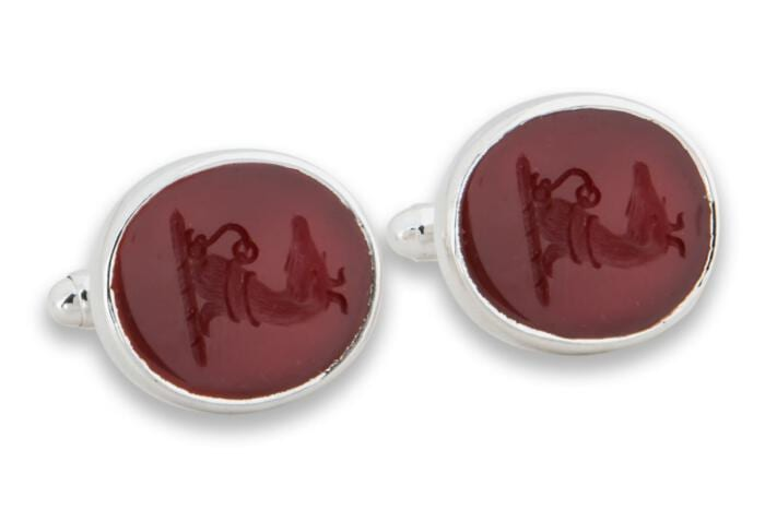 Red Agate Whippet cufflinks