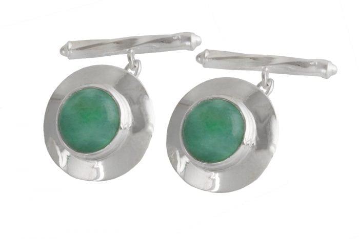 Green Jade cufflinks