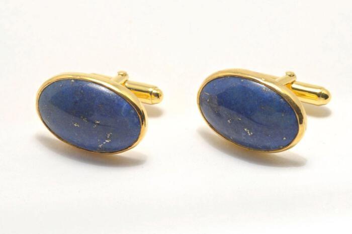 Lapis Cufflinks - Regnas Jewelry