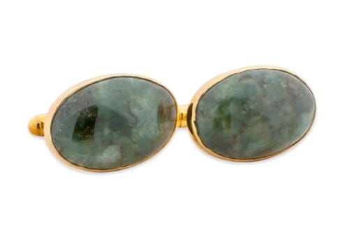 spinach jade cufflinks