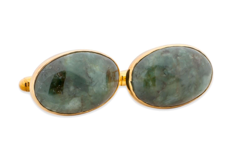 spinach jade cufflinks