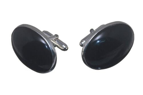 Large Black Onyx cufflinks