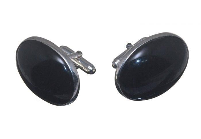 Large Black Onyx cufflinks