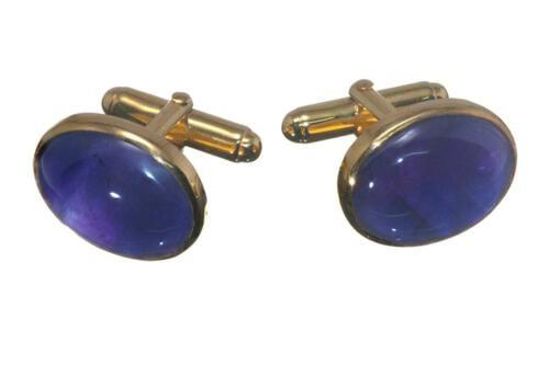 Amethyst Cufflinks Mini Oval - CLHATGPS354