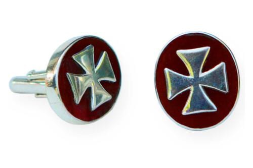 Agate Templar Cross Cufflinks