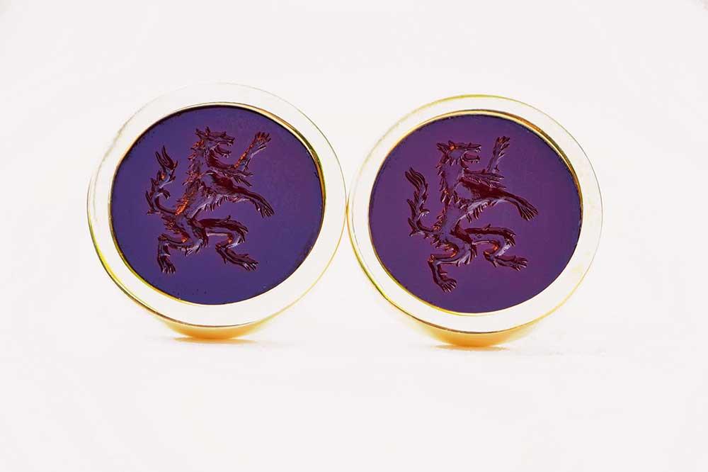 Rampant wolf cufflinks - Regnas Jewelry