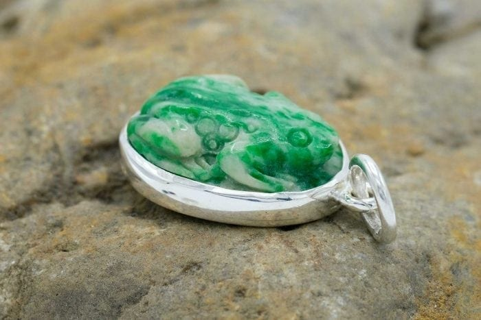 Jade Frog Pendant