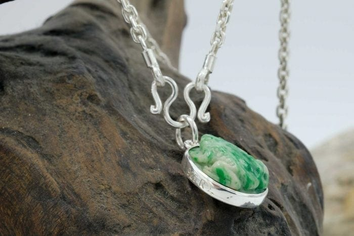 Jade Frog Pendant with chain