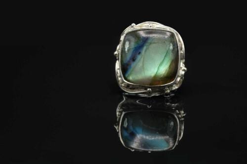 Square Labradorite Ring - Regnas Jewelry