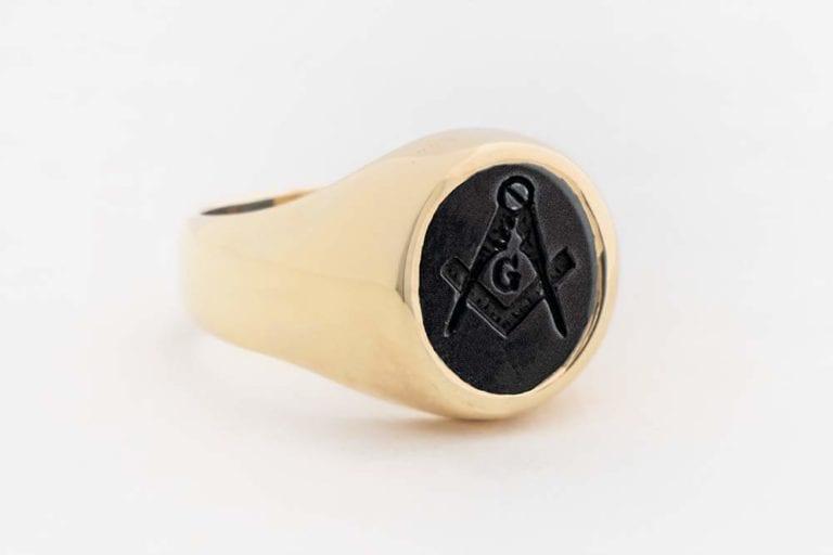 Gold Black Onyx Ring