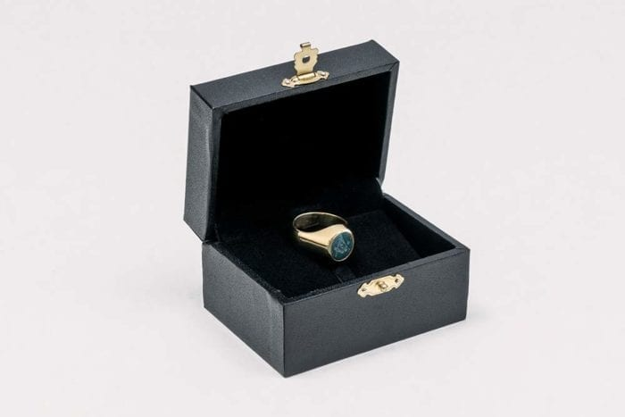 Gold Bloodstone Ring