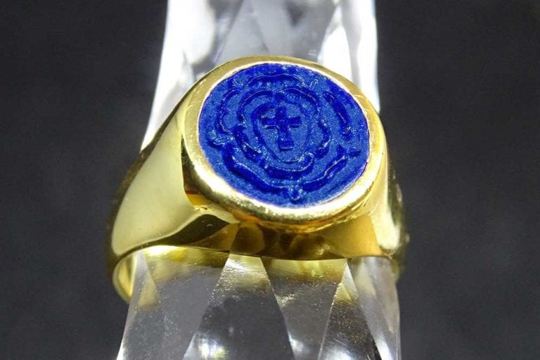 gold Rosicrucian ring