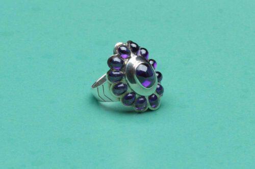 Amethyst Ring - Fascinating Unique & Elegant - Sterling Silver