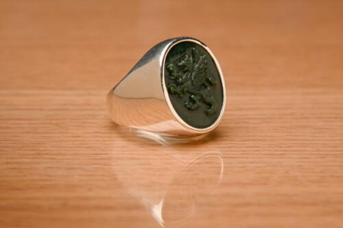 Bloodstone Griffin Ring