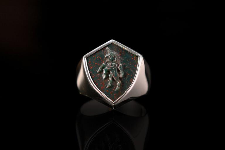 Bloodstone Unicorn Ring