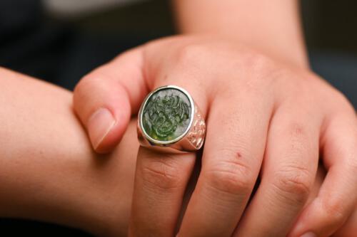 Canada Jade Wyvern Dragon Ring