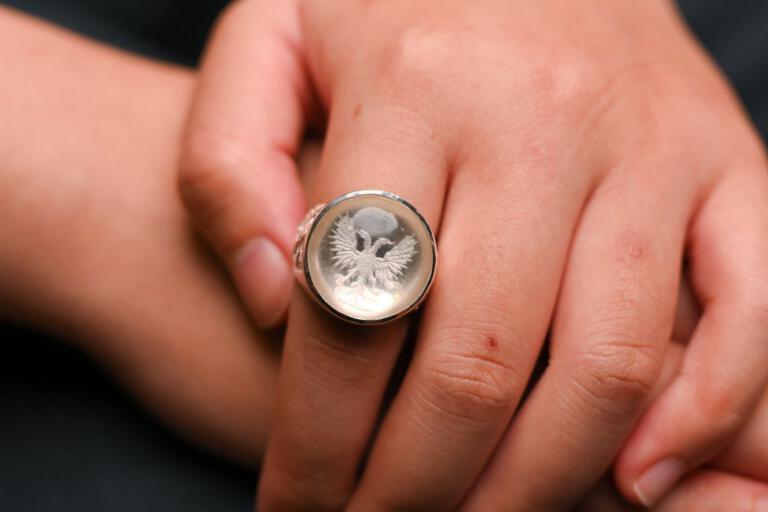 Rock Crystal Eagle Ring